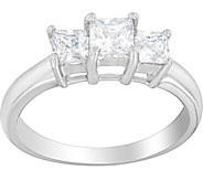 3-Stone Princess Cut Ring, 14K, 9/10 cttw, by Affinity - J376864