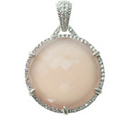 Judith Ripka Sterling Pink Opal/Rose Quartz & DMQ Enhancer - J377164