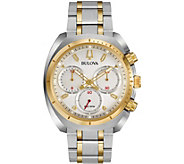 Bulova Mens CURV Two-Tone Chronograph Watch - J377564
