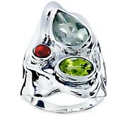 Hagit Sterling 3.65 cttw Multi-gemstone Ring - J379464