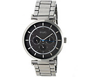 Simplify Stainless Bracelet Watch with Black Dial - J380364