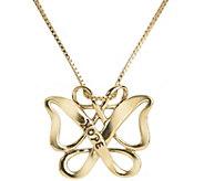 Loving Family Sterling & 14K Hope Butterfly Necklace - J380664