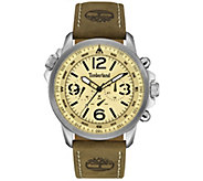 Timberland Mens Stainless Brown Leather Multi-Function Watch - J380764