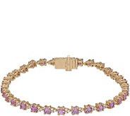 Judith Ripka 14K 4.30ct Pink Sapphire  Diamond6-7/8 Bracelet - J381164