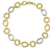 Italian Gold 8-1/4 Oval & Round Link Bracelet14K, 5.0g - J382064