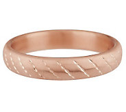 Oro Nuovo Large Satin Diamond Cut Round Bangle 14K - J287165