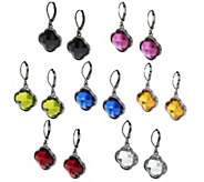 Joan Rivers Set of 7 Clover Drop Lever Back Earrings - J295465