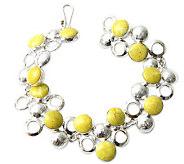 Novica Artisan Crafted Sterling Bubbling Bracelet - J299465