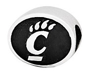 Sterling Silver University of Cincinnati Bead - J300765
