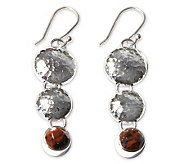 Novica Artisan Crafted Sterling Impressions Earrings - J300965