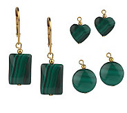 Lee Sands Interchangeable Malachite Earrings - J302765