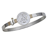 Miraculous Medal Bangle, Sterling Silver/14K - J303765