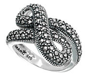Suspicion Sterling Marcasite Infinity Ring - J304365