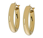 Arte dOro 1-3/8  Hoop Earrings with Omega Bac ks, 18K Gold - J305765