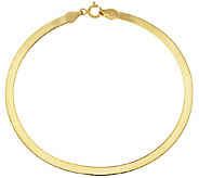 Vicenza Gold 6-3/4 Solid Polished Herringbone Bracelet, 1.3g - J320565