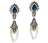 Barbara Bixby Sterling & 18K 9.90 cttw Gemstone Drop Earrings - J326565