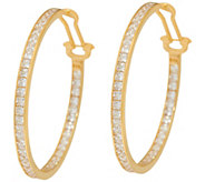 Diamonique 4.30 cttw 1-1/2 Round Hoop Earrings 14K Clad - J329165