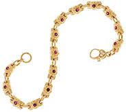 Judith Ripka 14K 0.55 cttw Gemstone & Diamond 7-3/4 Bracelet, 20.7g - J329665