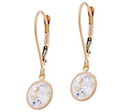 Diamonique 3.00 cttw Round Leverback Earrings, 14K - J331265