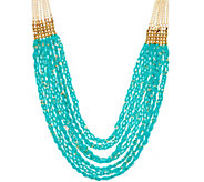 As Is Joan Rivers Braided Seed Bead Necklace w/ 3 Extender - J333165