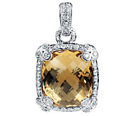 Judith Ripka Sterling Champagne Quartz Enhancer - J336365
