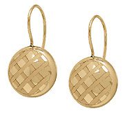 EternaGold Crosshatch Pattern Coin Bead Earrings, 14K - J339565