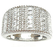 Judith Ripka Sterling 2.25cttw Diamonique & Tex tured Ring - J340865