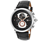 Lucien Piccard Mens Pegasus ChronographLeather Watch - J341265