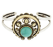 American West Sterling/Brass Turquoise Naja Cuff - J341465