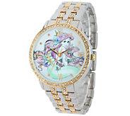 Disney Ariel Womens Glitz Bracelet Watch - J342265