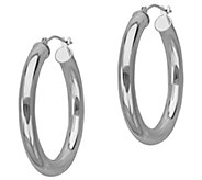 EternaGold 1 Polished Round Hoop Earrings, 14K - J343065