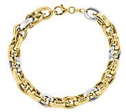 14K Gold Two-Tone Oval Link 8 Bracelet - J343665