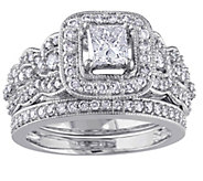 Affinity 14K 1.25 cttw Princess-Cut DiamondRing Set - J344565