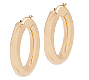 EternaGold Polished Oval Hoop Earrings, 14K Gold - J344665