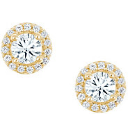 Round Halo Earrings, 14K Yellow Gold, 1/4 cttw,by Affinity - J345265