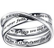 Extraordinary Life Sterling Corinthians Ring - J345365