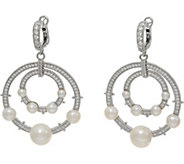 Judith Ripka Sterling Silver Cultured Freshwater Pearl Earrings - J349765