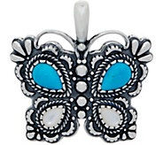 American West Turquoise and Mother of Pearl Butterfly Enhancer - J350865