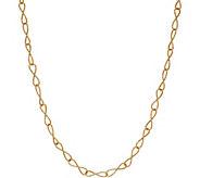 Italian Gold 24 Diamond Cut Infinity Link Necklace, 14K Gold 3.3g - J350965