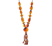 Joan Rivers Bold Bead 36 Necklace w/ Multi-Strand Tassel - J352865