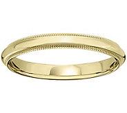 Womens 14K Yellow Gold 3mm Milgrain Wedding Band - J375565