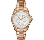 Caravelle New York Womens Rosetone Crystal Watch - J375965