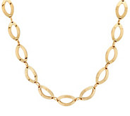 14K Gold Polished Marquise Link Necklace - J58165
