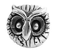 Prerogatives Sterling Owl Head Bead - J108466