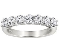 Epiphany Diamonique 7-Stone Anniversary Band Ring