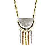 Hammered Tassel Aztec Necklace - J267466