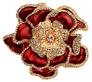 Joan Rivers Elegance in Bloom Pave Rose Pin - J269166
