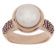 Honora Cultured Pearl 9.0mm and Gemstone Bronze Ring - J291366
