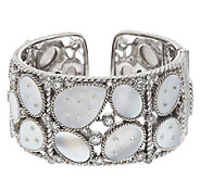 Judith Ripka Sterling Mother-of-Pearl and Diamonique Cuff - J295566
