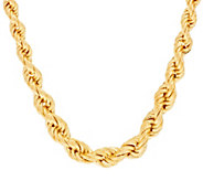 Bronze 20 Solid Textured Graduated Rope Necklace by Bronzo Italia - J296366